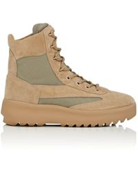 Yeezy - Suede & Nylon Military Boots - Lyst