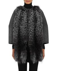Barneys New York - Fur-front Wool - Lyst