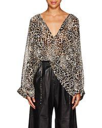 Nili Lotan - Acadia Leopard-print Silk Blouse - Lyst