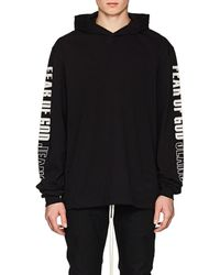 Jersey Of Fear Printed Hoodie God Oversized Lyst Cotton FpFdwqX1R