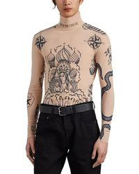 Vetements - Tattoo-print Mesh Top - Lyst