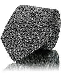 Lanvin - 3d Squares Silk Jacquard Necktie - Lyst