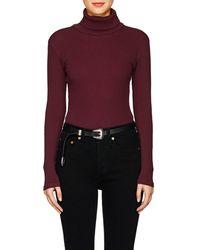 RE/DONE - Rib-knit Cotton Bodysuit - Lyst