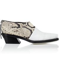 Proenza Schouler - Tape-detail Leather Ankle Boots - Lyst