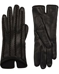 Barneys New York - Whipstitched Leather Gloves - Lyst