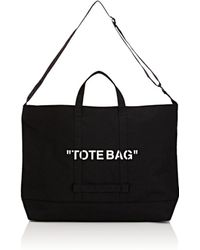 Off-White c/o Virgil Abloh - Oversized Canvas Tote Bag - Lyst