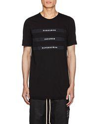 Rick Owens - Appliquéd Cotton Jersey T-shirt - Lyst