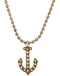 Giles & Brother - Anchor Pendant Necklace - Lyst