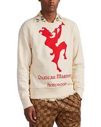 Gucci - chateau Marmont Hollywood Cotton Sweatshirt - Lyst