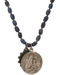 Miracle Icons Vintage-icon Beaded Necklace - Blue