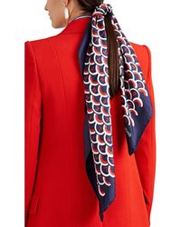 Valentino - Patterned Silk Knit Scarf - Lyst
