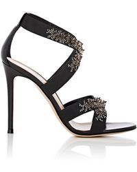 Gianvito Rossi - Leather & Elastic Crisscross-strap Sandals - Lyst