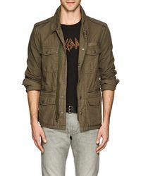John Varvatos - Embroidered Cotton Ripstop Field Jacket - Lyst