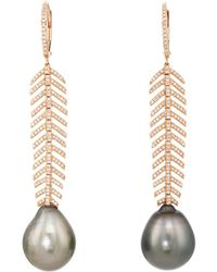 Samira 13 - Feather Drop Earrings - Lyst
