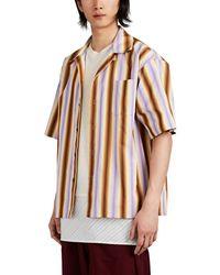Marni - Striped Cotton Camp-collar Shirt - Lyst