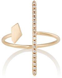 Hirotaka   White Diamond & Yellow Gold Ring   Lyst