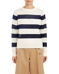 Sacai Luck - Lace & Knit Striped Sweater - Lyst