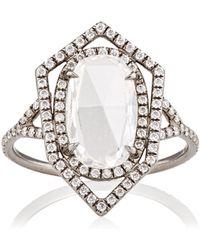 Monique Pean Atelier - Rose-cut & Pave White Diamond Ring - Lyst