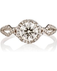 Monique Pean Atelier - Brilliant-cut White Diamond Ring - Lyst