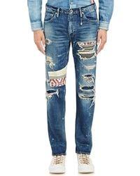 FDMTL - Distressed Patchwork Jeans - Lyst