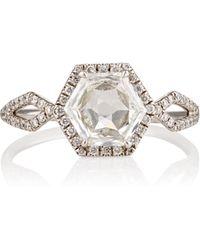 Monique Pean Atelier - Hexagonal White Diamond Ring - Lyst