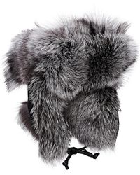 Crown Cap - Fur & Leather Aviator Hat - Lyst
