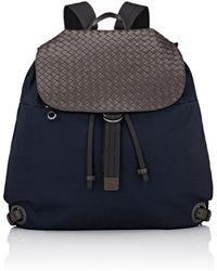 Bottega Veneta - Intrecciato-flap Drawstring Backpack - Lyst