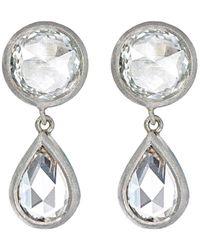 Malcolm Betts - Diamond Drop Earrings - Lyst