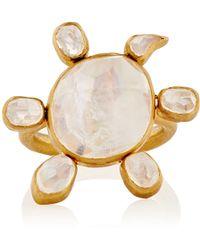 Munnu - Spinning Moonstone Turtle Ring - Lyst