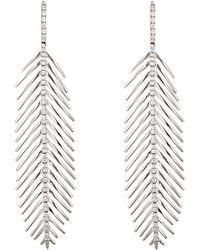 Sidney Garber - Women's Feather Flexible-drop Earrings - Lyst