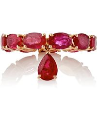 Sidney Garber - Women's Ruby-drop-accented Band - Lyst
