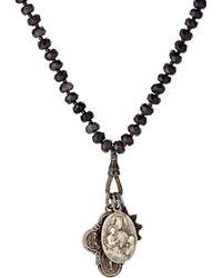 Miracle Icons - Men's Onyx Rondelle & Triple-pendant Necklace - Lyst