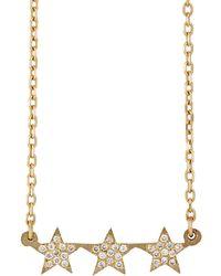 Bianca Pratt - Women's Triple-star Pendant Necklace - Lyst