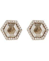 Monique Pean Atelier - Hexagonal Stud Earrings - Lyst