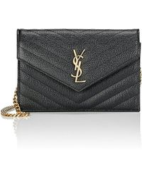saint laurent bags uk - yves saint laurent monogram leather large flap continental wallet ...