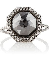Monique Pean Atelier - White & Black Diamond Ring Size 7 - Lyst