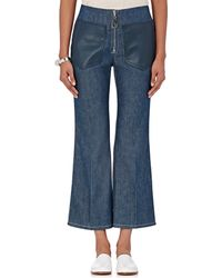 Edun - Lambskin Pocket Flared Jeans - Lyst