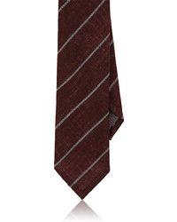 Luciano Barbera - Fine-striped Woven Wool-silk Necktie - Lyst