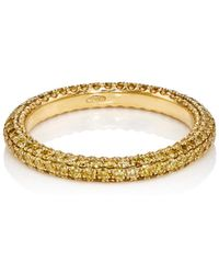 Sidney Garber - Yellow Diamond & Yellow Gold Thread Band - Lyst