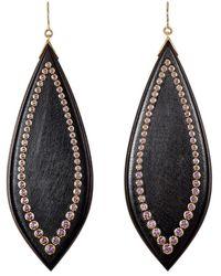Mark Davis - Studded Marquise-shaped Drop Earrings - Lyst