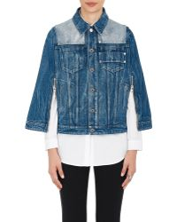 Givenchy - Contrast Yoke Denim Cape - Lyst