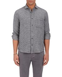 Inis Meáin - Linen Jacquard Button - Lyst