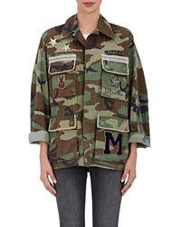 813 Ottotredici - Embellished Camouflage Cotton Field Jacket - Lyst