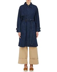 Tomorrowland - Denim Belted Trench Coat - Lyst
