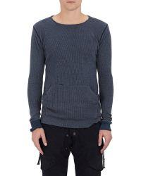 Greg Lauren - Waffle-knit Cotton Thermal T - Lyst