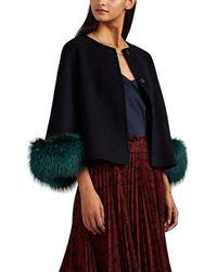 Barneys New York - Fur-trimmed Wool-cashmere Melton Jacket - Lyst