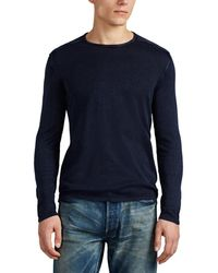 John Varvatos - Washed Cotton Sweater - Lyst