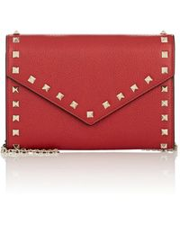 Valentino - Rockstud Leather Chain Wallet - Lyst