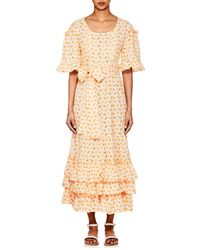 Lisa Marie Fernandez - January Embroidered-eyelet Cotton Dress - Lyst