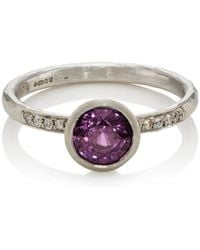 Malcolm Betts | Purple Sapphire & White Diamond Ring | Lyst